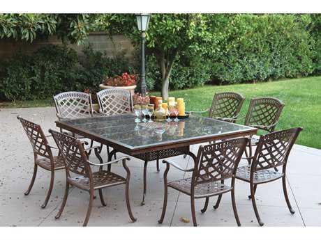 Darlee Outdoor Living Standard Sedona Cast Aluminum Dining Set PatioLiving
