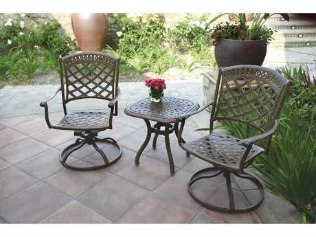 Darlee Outdoor Living Standard Sedona Cast Aluminum Lounge Set