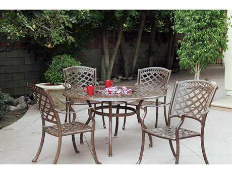 Darlee Outdoor Living Sedona Cast Aluminum Dining Set PatioLiving