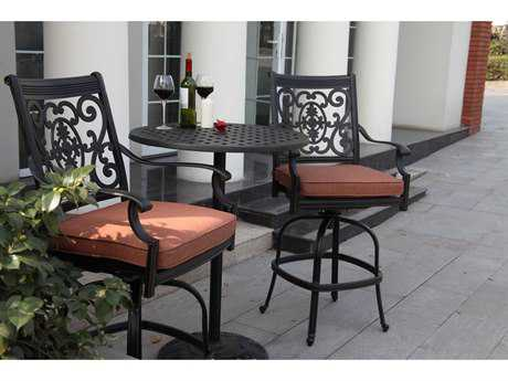Darlee Outdoor Living Standard St. Cruz Cast Aluminum Counter Height Set