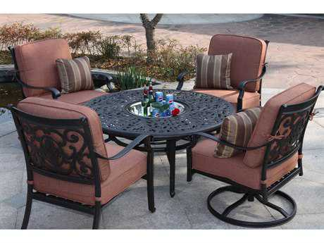 Darlee Outdoor Living Standard St. Cruz Cast Aluminum Lounge Set