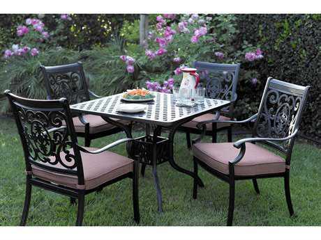 Darlee Outdoor Living Standard St. Cruz Cast Aluminum Dining Set PatioLiving