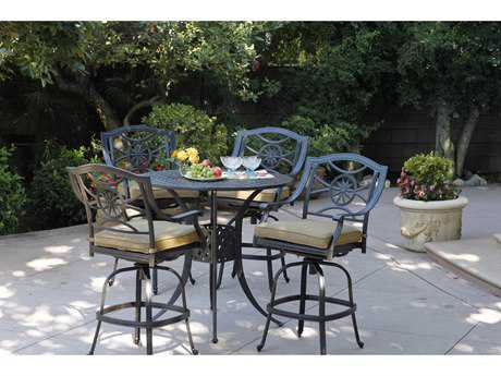 Darlee Outdoor Living Standard Ten Star Cast Aluminum Bar Set PatioLiving