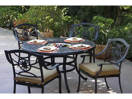 Darlee Outdoor Living Ten Star Cast Aluminum Dining Set PatioLiving