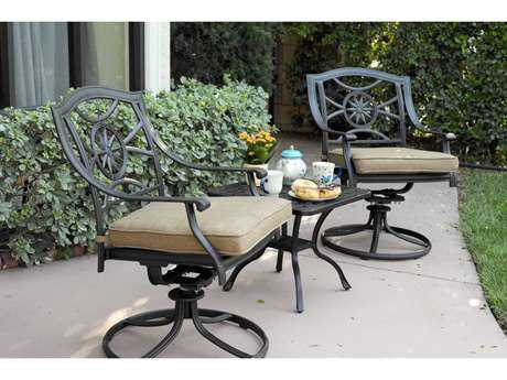 Darlee Outdoor Living Standard Ten Star Cast Aluminum Lounge Set PatioLiving