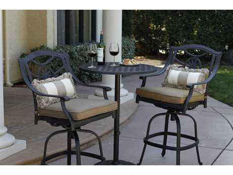 Darlee Outdoor Living Standard Ten Star Cast Aluminum Counter Height Set