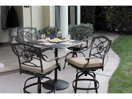 Darlee Outdoor Living Standard Ten Star Cast Aluminum Dining Set PatioLiving