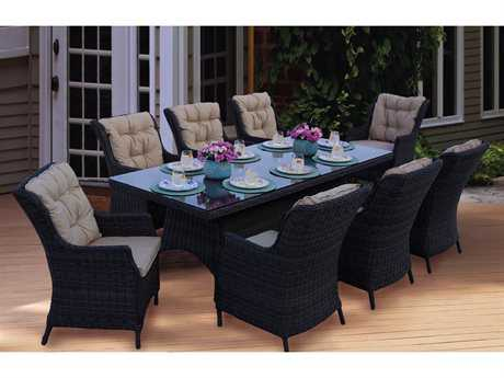 Darlee Outdoor Living Standard Valencia Wicker Dining Set