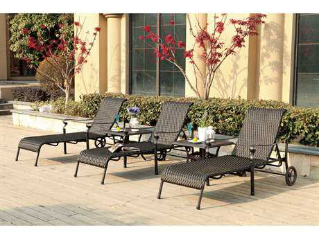 Darlee Outdoor Living Standard Victoria Wicker Lounge Set