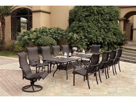 Darlee Outdoor Living Standard Victoria Wicker Dining Set