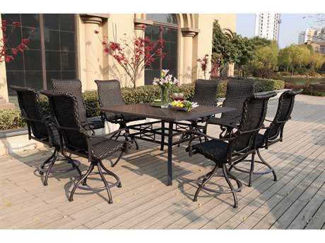 Darlee Outdoor Living Standard Victoria Wicker Counter Set
