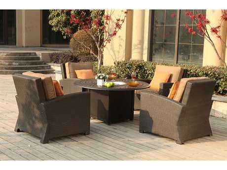 Darlee Outdoor Living Standard Vienna Wicker Lounge Set