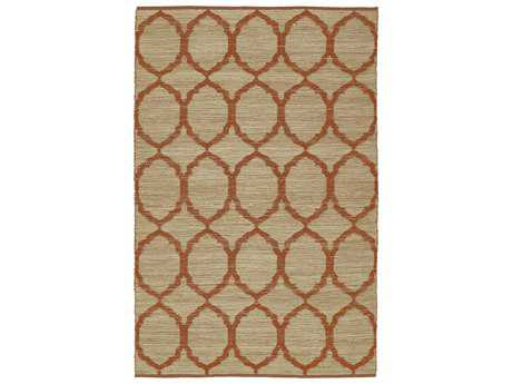 Dalyn Santiago Rectangular Orange Area Rug