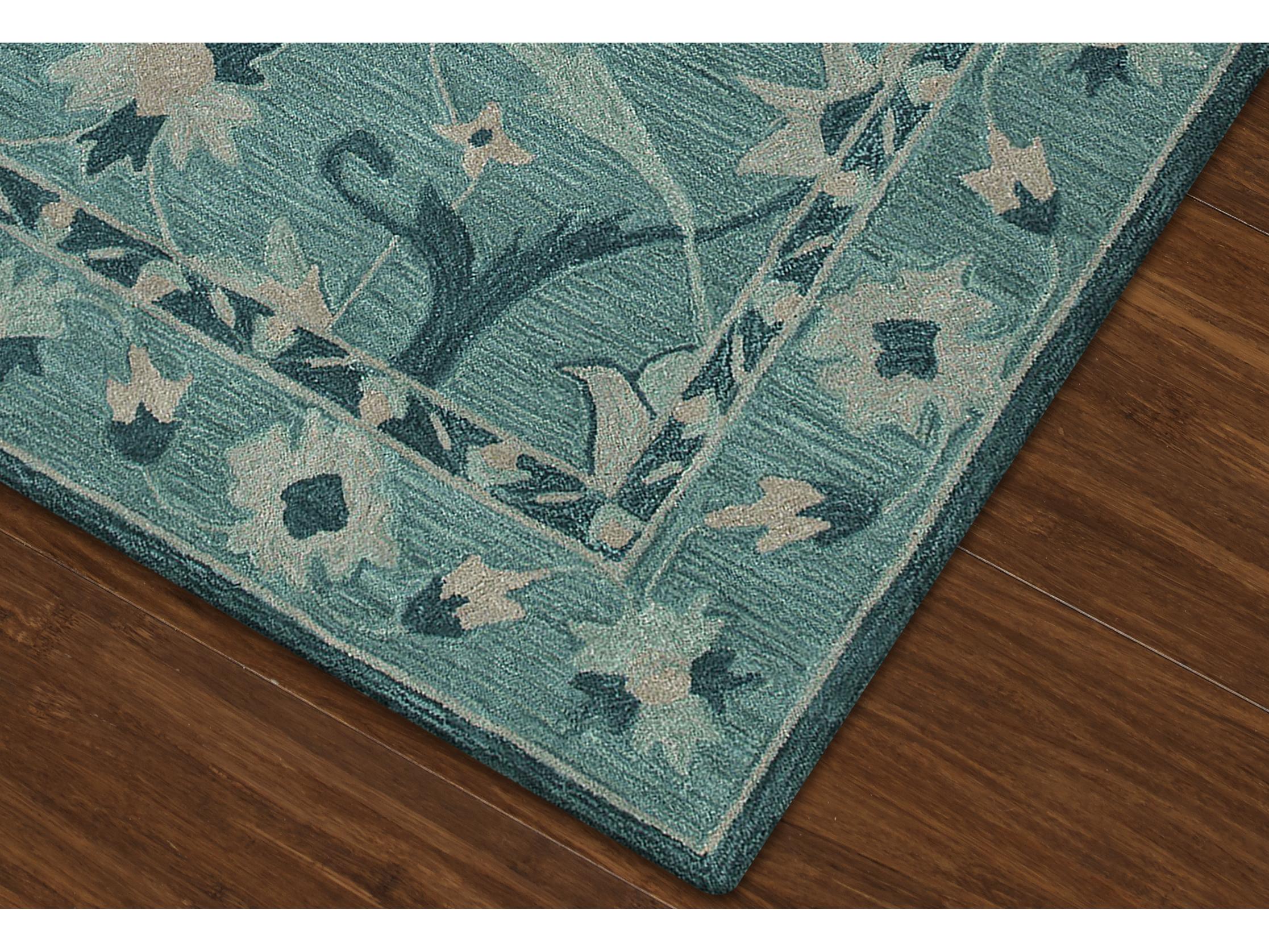 dalyn tribeca teal rectangular area rug dltb6teal. Black Bedroom Furniture Sets. Home Design Ideas