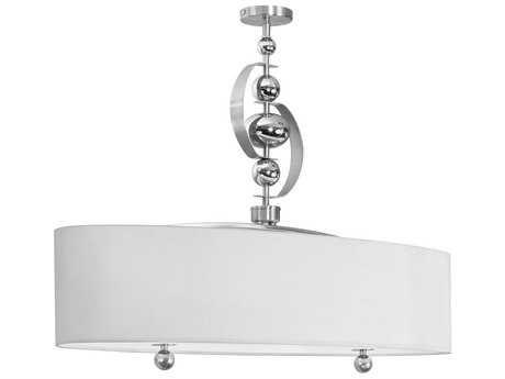 Dainolite Bolero Satin Chrome & White Four-Light Pendant