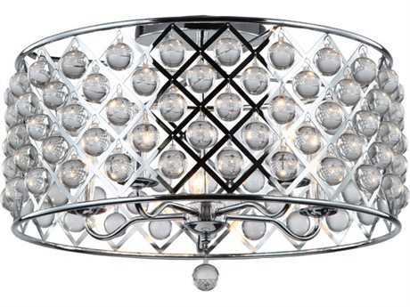 Dainolite Cresfield Polished Chrome Five-Light 22'' Wide Semi-Flush Mount Light