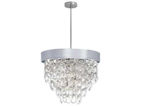 Dainolite Cristallo Polished Chrome &  Silver Six-Light 23'' Wide Chandelier