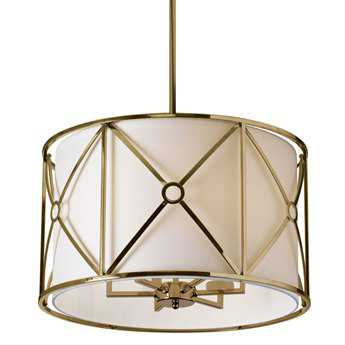 Dainolite Cruz Vintage Bronze & Ivory Six-Light 22'' Wide Mini-Chandelier