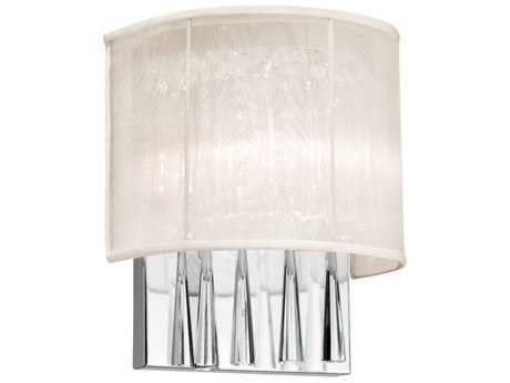 Dainolite Josephine Polished Chrome Two-Light Wall Sconce