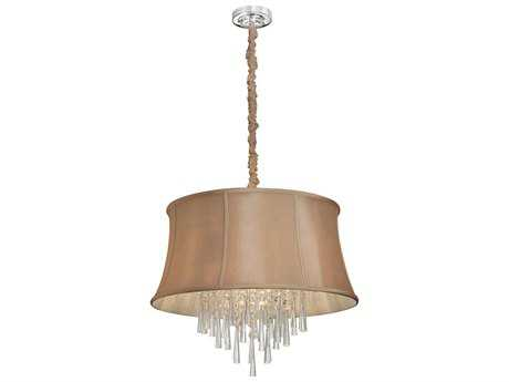 Dainolite Julia Polished Chrome & Latte Six-Light 22'' Wide Chandelier