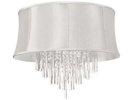 Dainolite Julia Polished Chrome Eight-Light 26'' Wide Flush Mount Ceiling Light