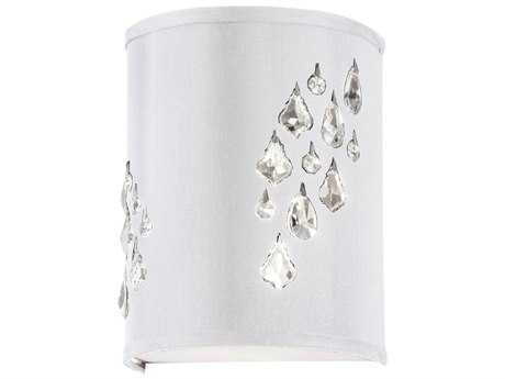 Dainolite Rhiannon Polished Chrome & White Two-Light Wall Sconce