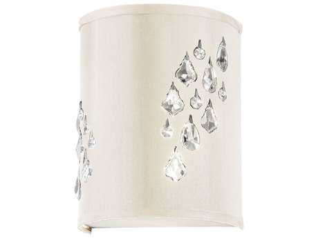 Dainolite Rhiannon Polished Chrome & Ivory Two-Light Wall Sconce