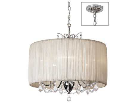 Dainolite Victoria Polished Chrome & Oyster Five-Light Chandelier