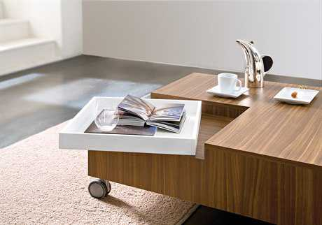 Domitalia Roy 35.5'' Square Coffee Table with Wheels