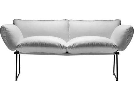 Driade Elisa Steel Cushion Two-Seater Sofa