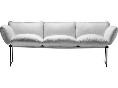 Driade Elisa Steel Cushion Three-Seater Sofa