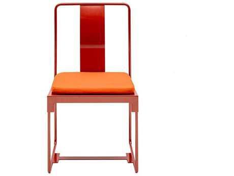 Driade Mingx Steel Cushion Side Chair In Orange PatioLiving