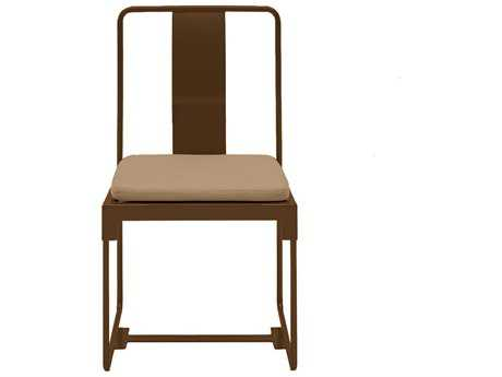 Driade Mingx Steel Cushion Side Chair In Bronze
