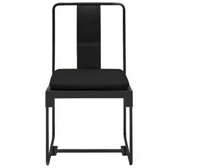 Driade Mingx Steel Cushion Side Chair In Black