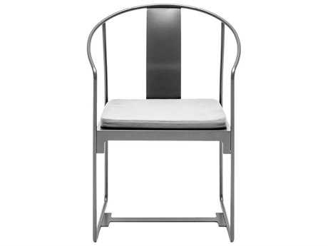 Driade Mingx Steel Cushion Grey Dining Arm Chair