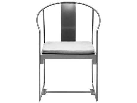 Driade Mingx Steel Cushion Grey Dining Arm Chair PatioLiving