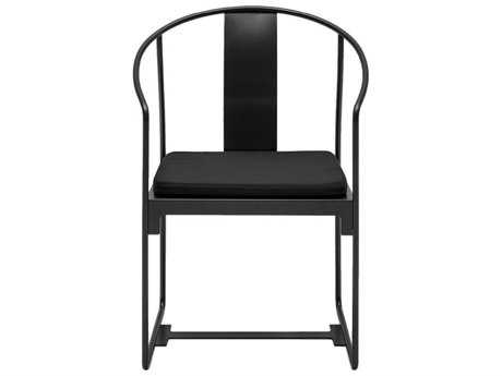 Driade Mingx Steel Cushion Black Dining Arm Chair