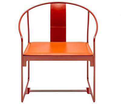 Driade Mingx Steel Cushion Orange Dining Arm Chair