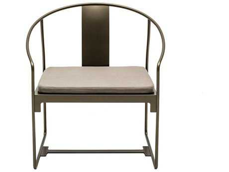 Driade Mingx Steel Cushion Bronze Dining Arm Chair