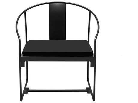 Driade Mingx Steel Cushion Black Dining Arm Chair PatioLiving