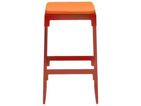 Driade Mingx Steel Cushion High Stool In Orange