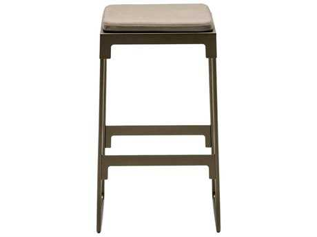 Driade Mingx Steel Cushion High Stool In Bronze