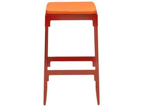 Driade Mingx Steel Cushion Low Stool In Orange