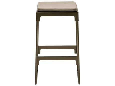 Driade Mingx Steel Cushion Low Stool In Bronze
