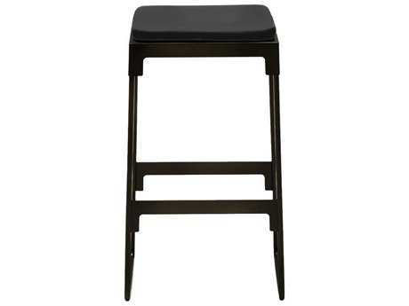 Driade Mingx Steel Cushion Low Stool In Black