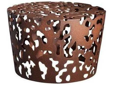 Driade Camouflage Aluminum 21.6'' Wide Round Coffee Table In Russet PatioLiving