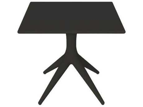 Driade App Polyproylene 31.4'' Wide Square Dining Table In Black