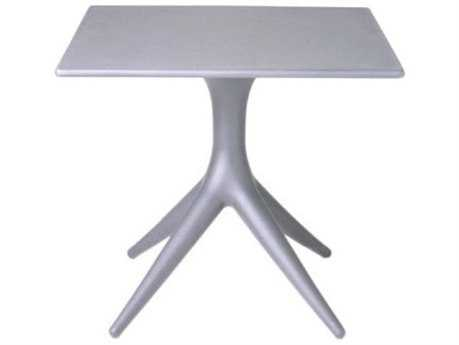 Driade App Polyproylene 31.4'' Wide Square Dining Table In Lavander Grey