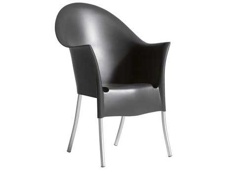 Driade Lord Yo Aluminum Polypropylene Stackable Armchair In Black