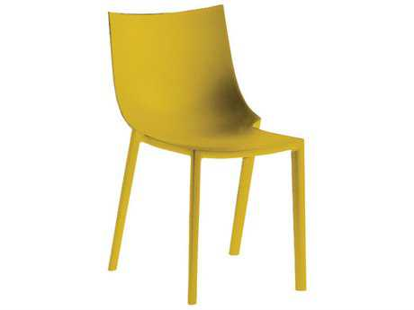 Driade Bo Polypropylene Stackable Chair in Mustard Yellow PatioLiving